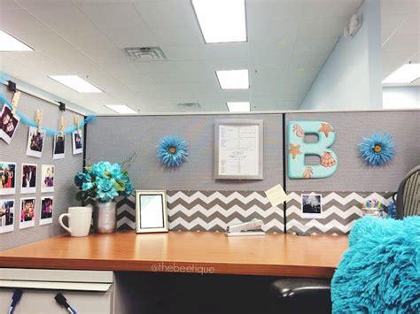 office cubicle desk work space decor corporate