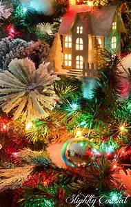 Traditional, Christmas, Tree, With, Colored, Lights