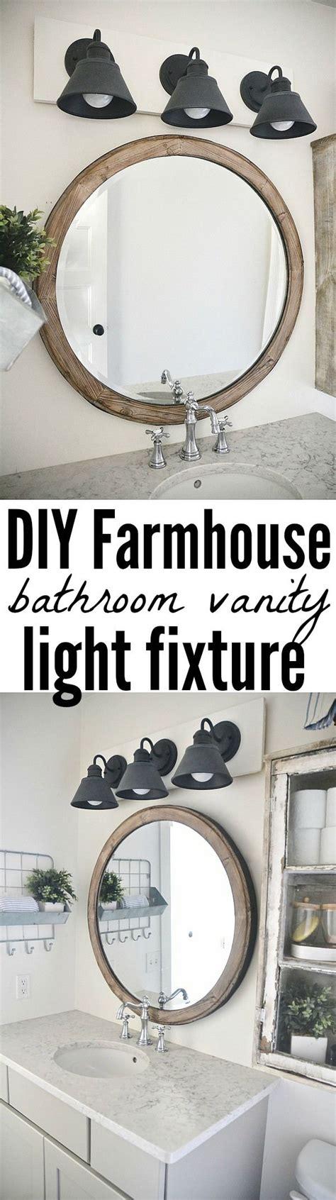 Farmhouse Bathroom Light Fixtures by Diy Farmhouse Bathroom Vanity Light Fixture Vanity Light