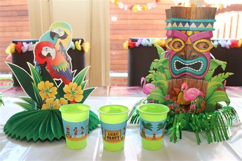 tropical table ls cheap hawaiian luau party with desert table and games chic