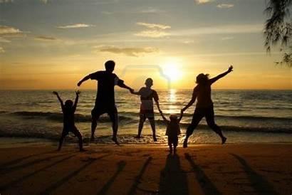 Silhouette Keluarga Dan Loisirs Yang Cris Mamma