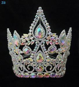 Fashion Full Ab Crystal Tiara Crown,Large Pageant Crowns ...