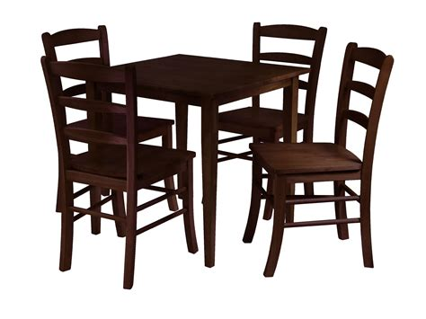 winsome groveland 5pc square dining table with 4 chairs by