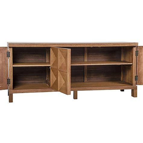 Modern Walnut Sideboard by Brenton Modern Classic Walnut 3 Door Sideboard