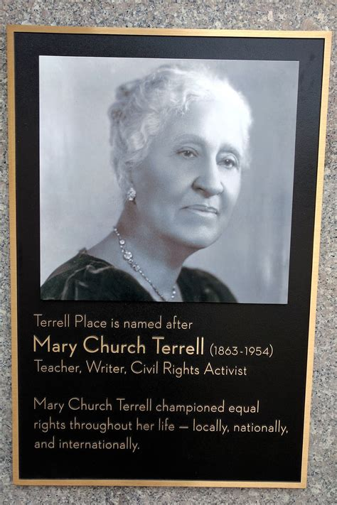 Mary Church Terrell Honored At Old Hechts Building