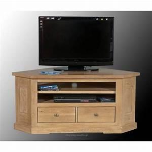 Meuble Angle Bois : meuble hifi d angle meuble tv bois suspendu maison boncolac ~ Edinachiropracticcenter.com Idées de Décoration