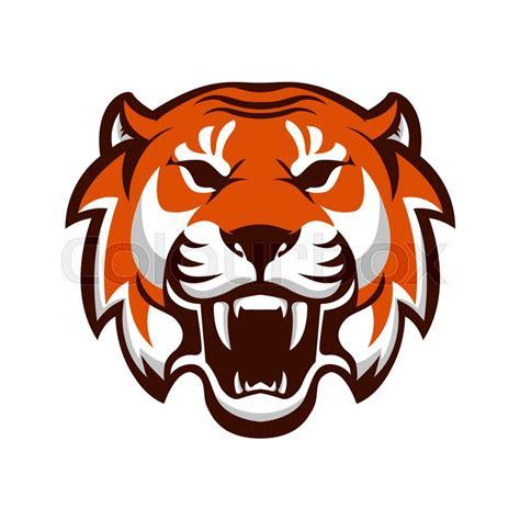 tiger head design element  logo stock vector
