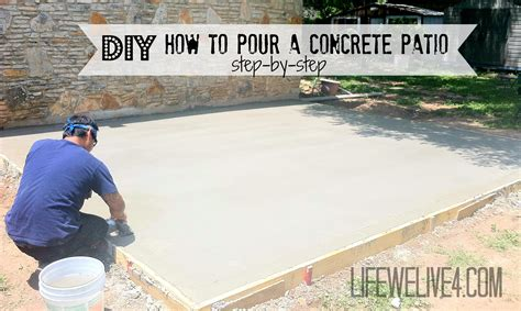 how to pour a concrete patio diy
