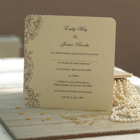 vintage lace wedding invitations  beautiful day