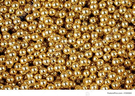 fashion accessories gold beads background stock picture