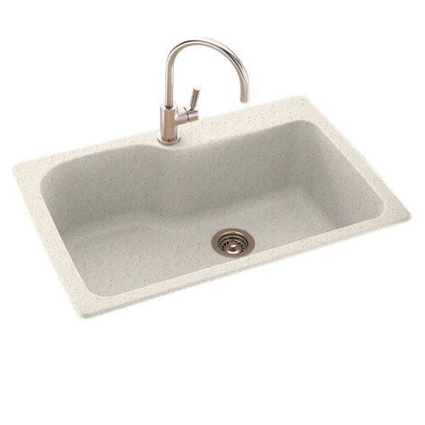 swanstone kitchen sinks home depot swanstone dual mount composite 33 in 1 single basin