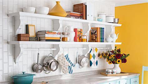 Builtin Kitchen Wall Shelf