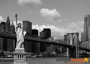 Wall mural wallpaper Brooklyn Bridge Statue of Liberty New