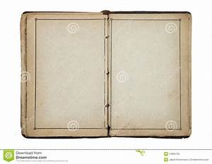 Open Old Blank Book Stock Photos - Image: 15955733