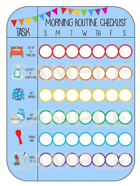 Printable Morning Routine Checklist