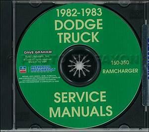 1982 1983 Dodge Pickup Truck Repair Shop Manual Cd D150
