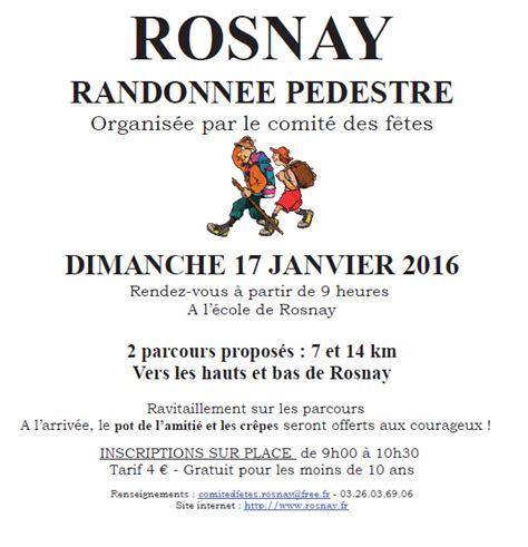 chambre d agriculture de la marne randonnée pédestre à rosnay le dimanche 17 janvier 2016