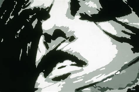 Abstract Faces Black And White by Ecstasy Painting By Steve Park