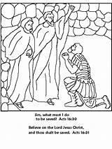 Coloring Paul Silas Jail Prison Sunday Bible Sheets Popular Coloringhome Philippians sketch template