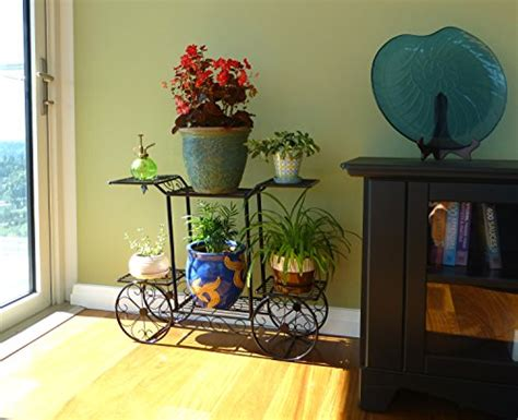 Flower Plant Holder Pot Display Rack Cart Stand Elegant