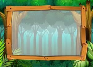 Border, Design, With, Dark, Forest, 418769