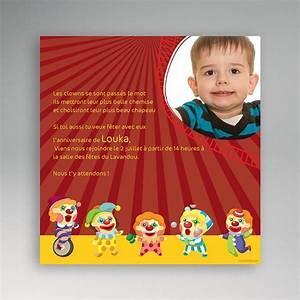 Texte Anniversaire 1 An Garçon : invitation anniversaire cirque clowns ~ Melissatoandfro.com Idées de Décoration