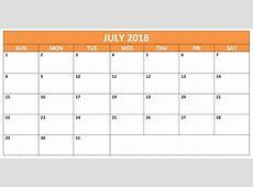 July 2018 Calendar Printable Calendar 2018 Printable