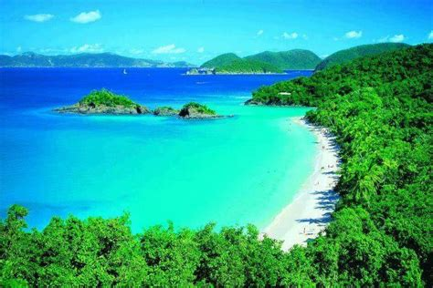 Trunk Bay St John Us Virgin Islands Beautiful Places