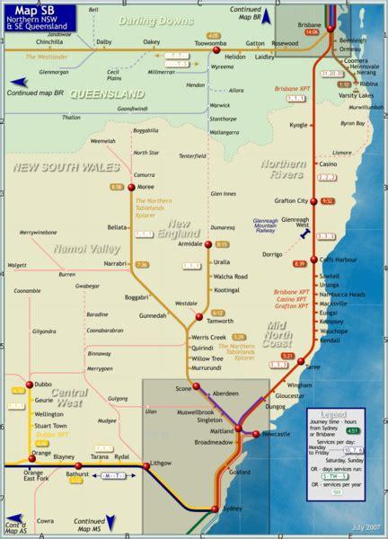 northern  south wales map northern  south wales