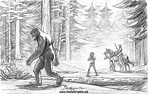 The Patterson-Gimlin Film 50th Anniversary. Pencil Sketch ...
