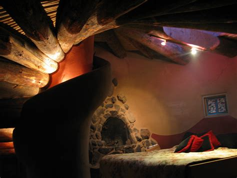 Nautilus Bed Loft Night  Fireplace Next To Bed In