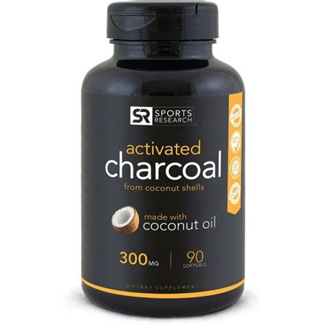 activated charcoal capsules natural organic gas relief