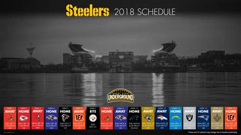 Pittsburgh Steelers Desktop Background The Good Bad And Ugly Of The Steelers 2018 Schedule Steel City Underground