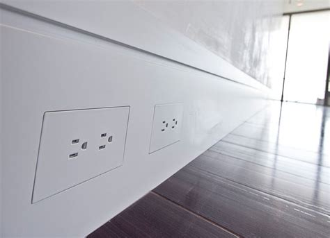 flush mounted wall outlets contemporary decor