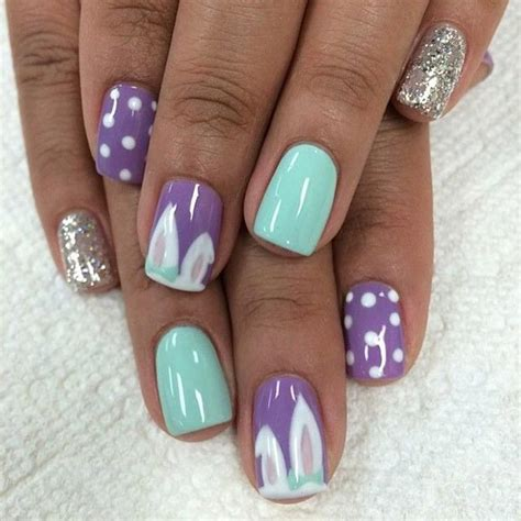 cute nail art designs  easter stayglam