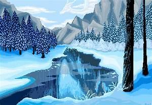 Pixel Snow Landscape by owlmaddie on DeviantArt