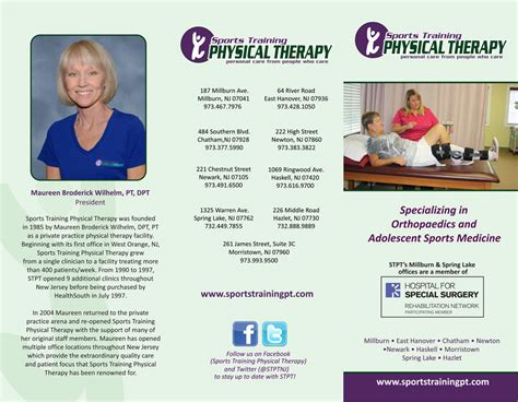 Therapy Brochure Templates by Physical Therapy Brochure Tri Fold Brochure