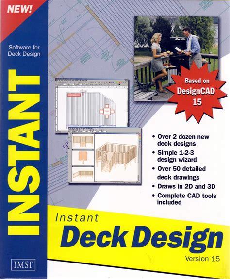 deck design software new deck design pc software cad tools builder plans 3d