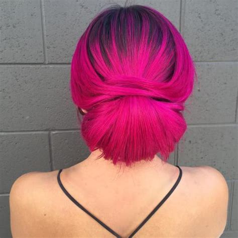 Coloured Hairstyles by Best Hairstyles For Magenta Hair Color 2019 Haircuts