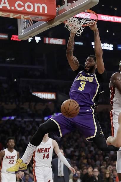 Lakers Davis Anthony Basketball Heat Nba Angeles