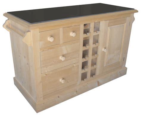 meuble de cuisine en pin billot de cuisine en pin