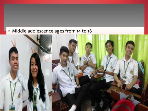 development stage  middle  late adolescence