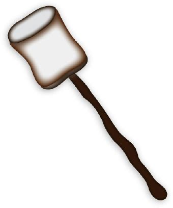 marshmallow on a stick clipart roasted marshmallow clip