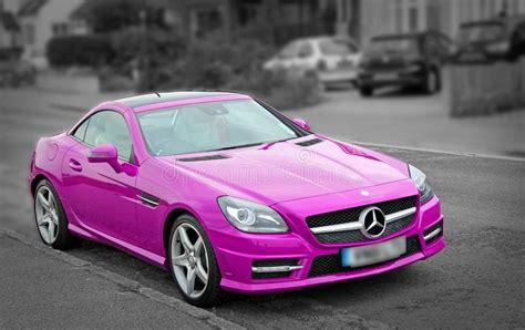 Luxury Pink Mercedes Slk200 Car Editorial Stock Photo