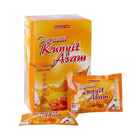 kunyit asam permen sidomuncul terbuat dari bahan alami buah asam jual sidomuncul kunyit asam permen herbal 15 sachet