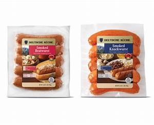 Aldi us deutsche kuche smoked bratwurst or knackwurst for Aldi küche