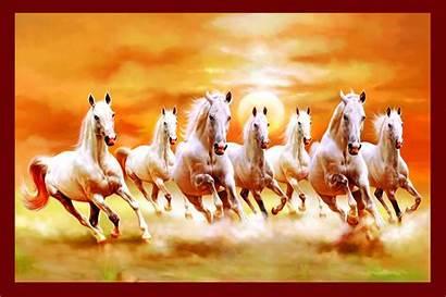 Running Vastu Horse Horses Seven Painting Galaxy
