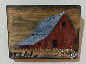 Rustic, Cottage, Chic, Paintings, On, Reclaimed, Wood, U2013, C, P, F, Paintings