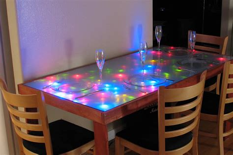 interactive led dining table dining table   frosted