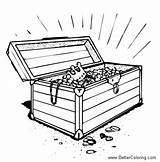 Treasure Chest Coloring Pages Drawing Printable Open Adults Paintingvalley sketch template